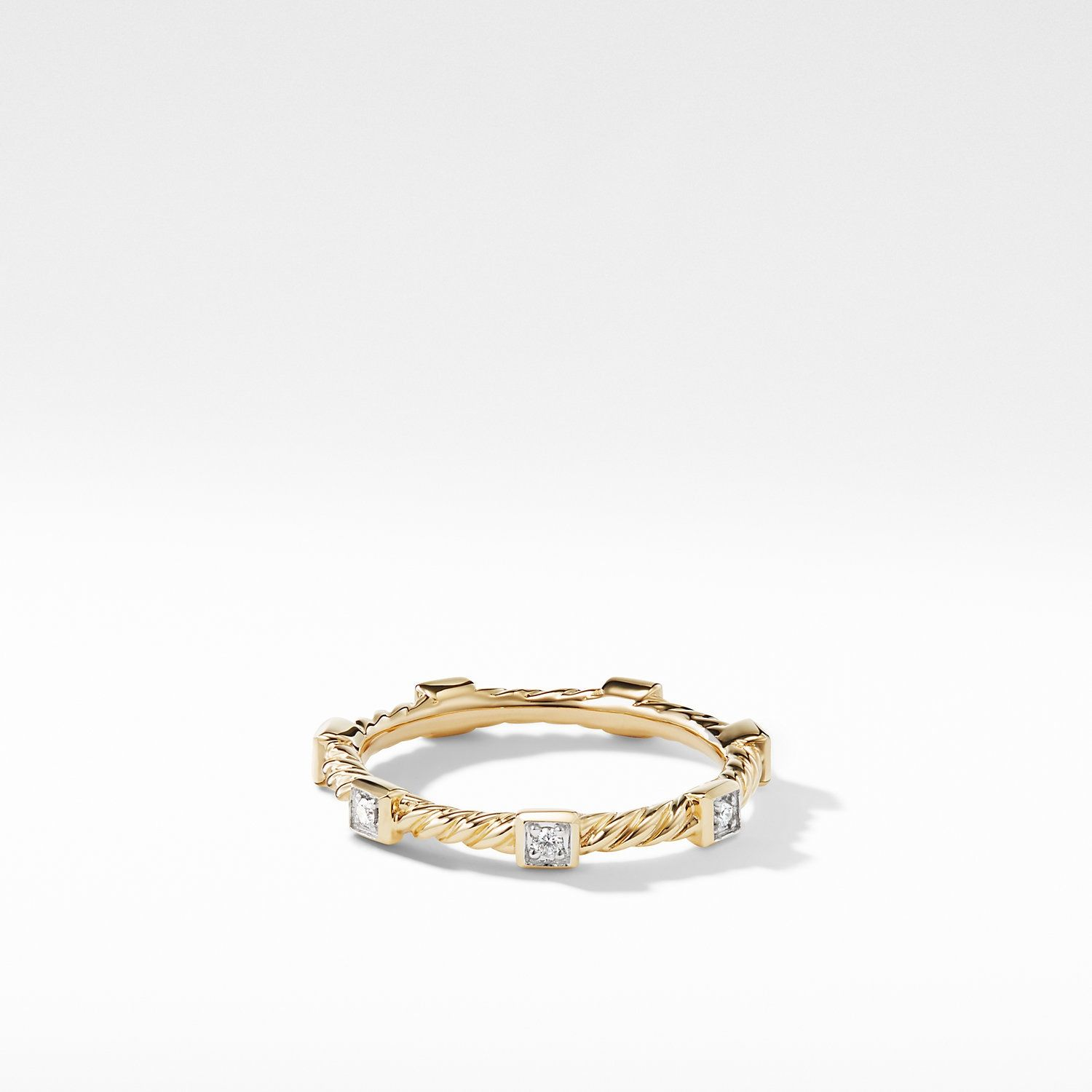 Cable Collectibles Ring With Diamonds In 18k Gold David Yurman In 2020 David Yurman Gold Rings Jewelry Women Rings