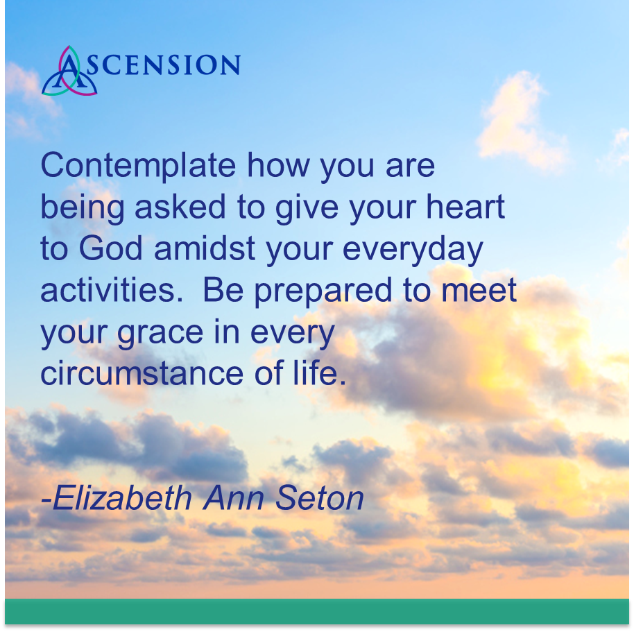 Moving Quote A Moving Quote From Elizabeth Ann Setonsundayreflection