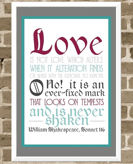 Love Is Not Lovewhich Alters When It Alteration Finds Or Bends