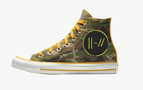 8120210533e2c9 These shoes are custom converse high-tops that are inspire by the Twenty  One Pilots album Trench. If you have anything about the design that you  dont like ...