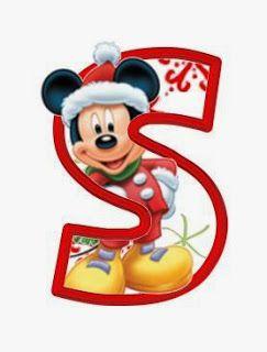 Alfabeto Navideno De Personajes Disney Betuk Ovoda