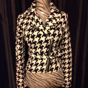 Express Houndstooth belted jacket...people still think it's Chanel :)