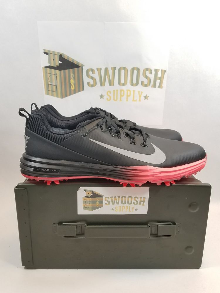96836b89cc7e5 Nike Lunar Command 2 Golf Shoes Sz 9 Black Infrared 922050 001 Sample  NIke