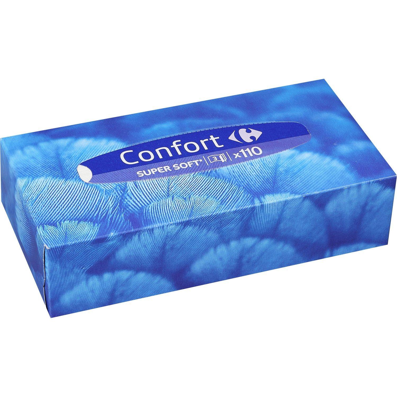 Mouchoirs Confort Super Soft Carrefour La Boite De 110 A Prix Mouchoirs Beaute Et Boite