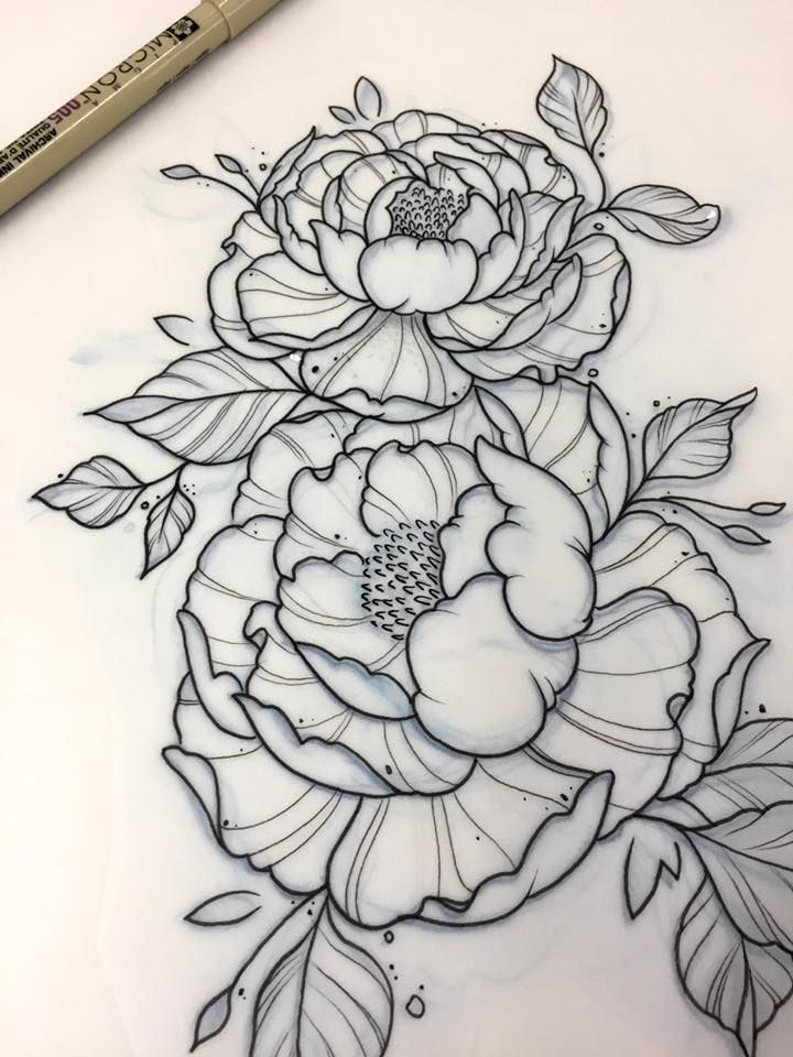 Line Drawing Flower Tattoo : Ironink … pinteres…