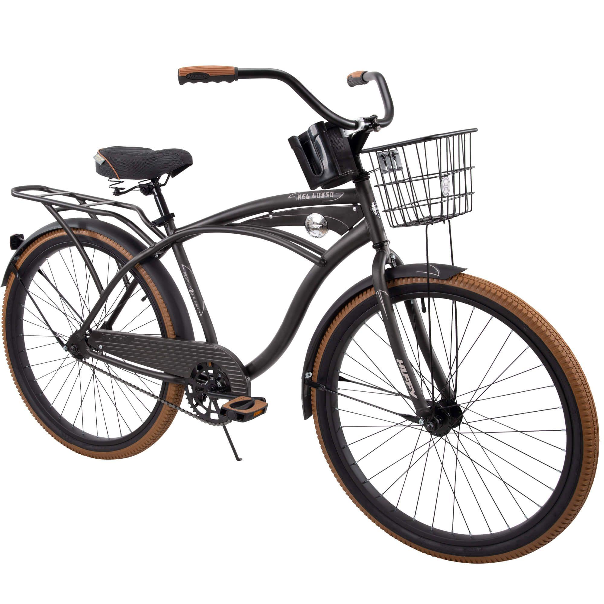 Huffy 26 Nel Lusso Men S Single Speed Comfort Cruiser Bike Charcoal Walmart Com In 2020 Cruiser Bike Cruiser Bike Black Beach Bicycle
