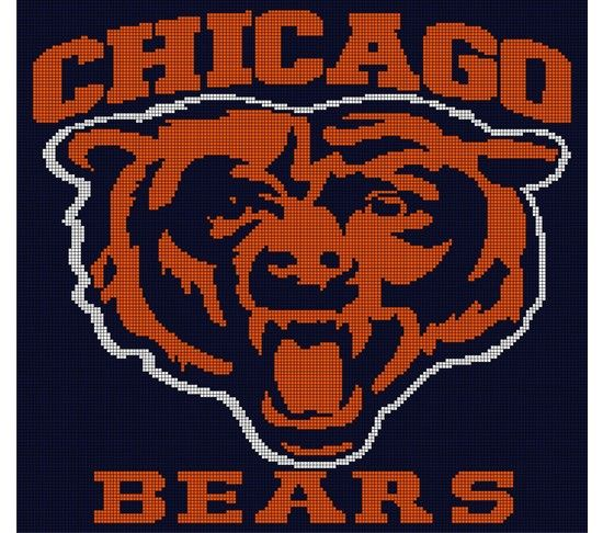 031bfdd1 Chicago Bears Crochet Afghan Pattern Graph, $5.00... Pattern now ...