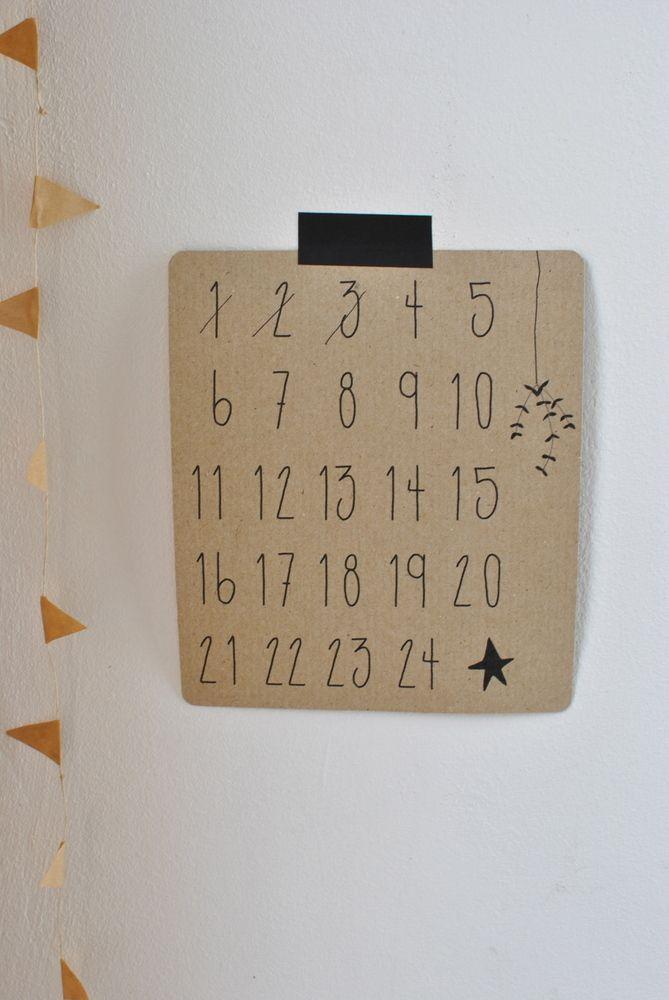 Calendrier De L Avent Papier Craft Cousu A La Machine