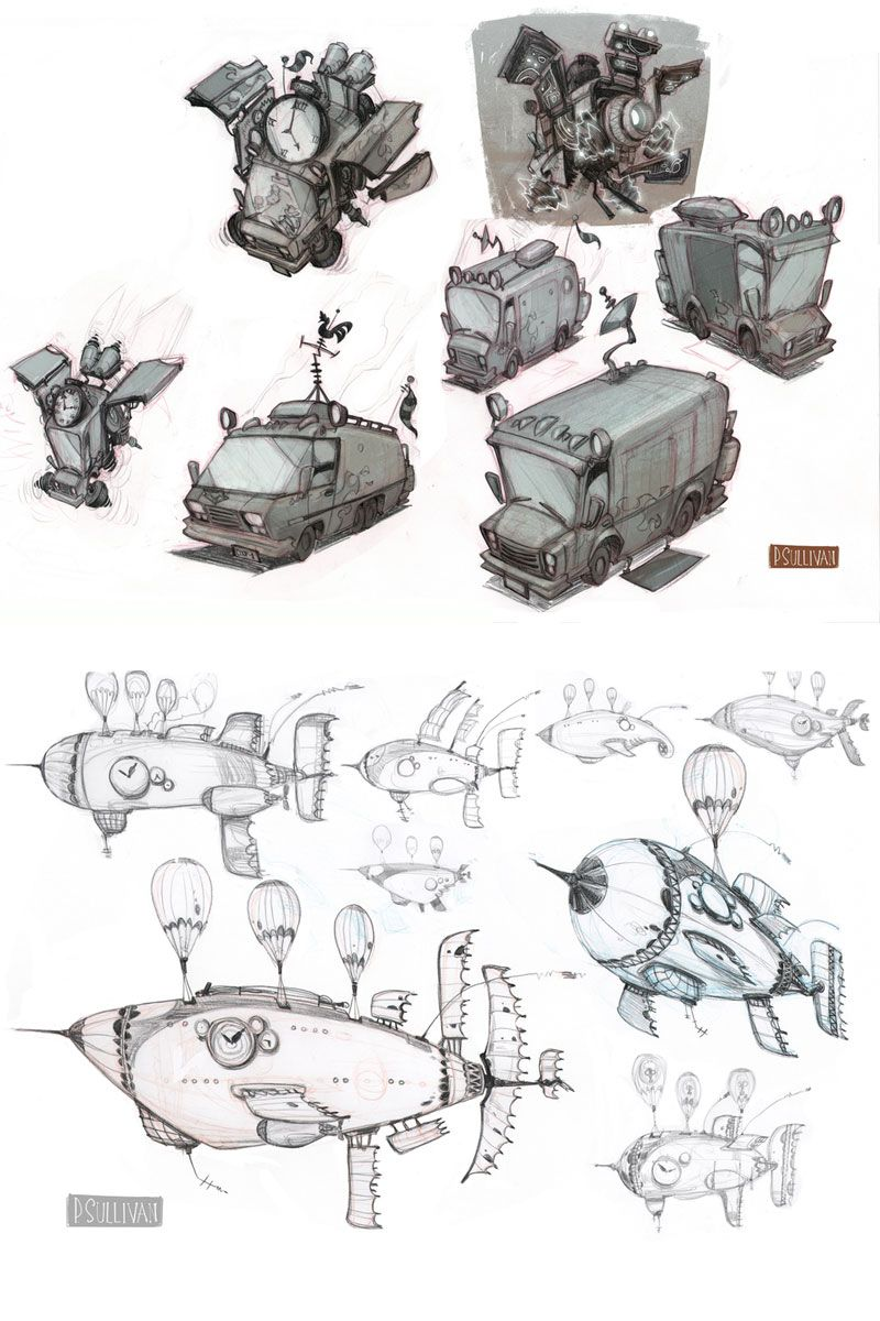Artes do game Sly Cooper Thieves in Time, por Paul Sullivan | THECAB - The Concept Art Blog