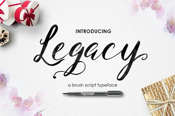 Legacy brush fonts hello there introducing legacy brush script