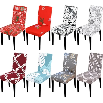 Printed Stretch Chair Cover In 2020 Chair Covers Slipcover