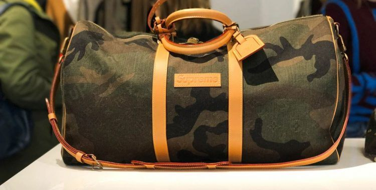 sac weekend camo de la collaboration Supreme x Louis Vuitton  supreme   louisvuitton  sac 40779cb162a