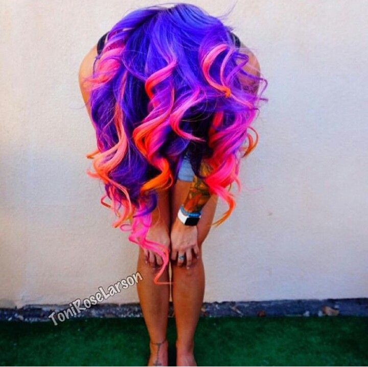 Pin By Christina Dean On Hair Pinterest Neon Hair Coloring And