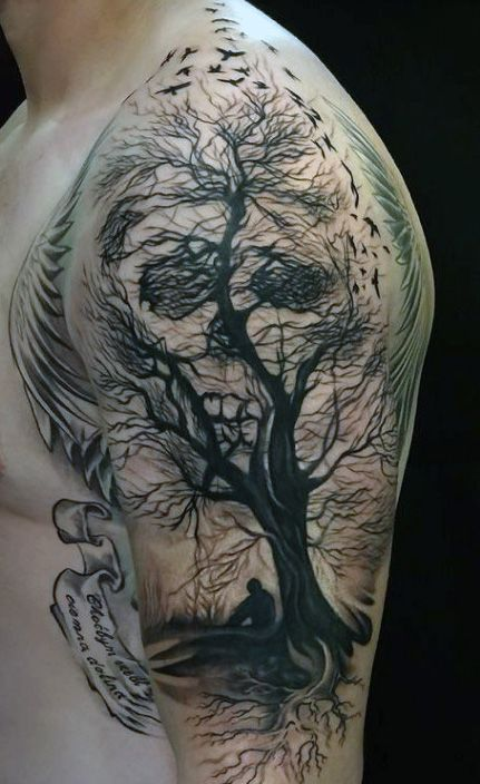 Top 80 Best Skull Tattoos For Men - Manly Designs And ...