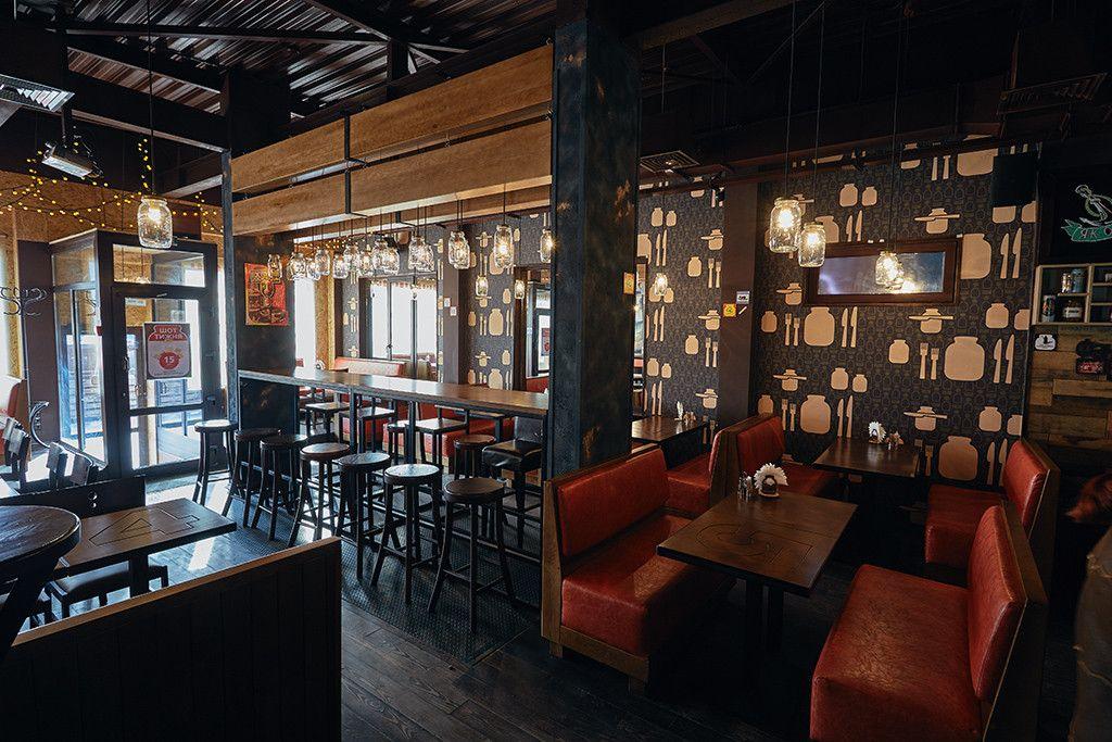 Fun bar banka in kiev contemporary loft interior