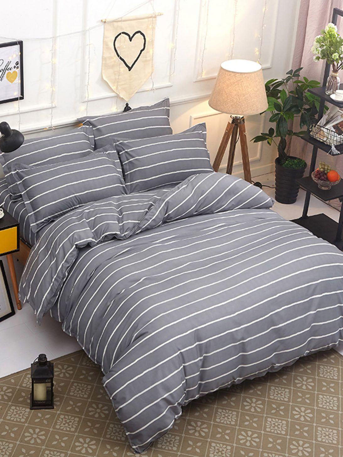 62 Most Marvelous Pinstripe Duvet Cover Striped Sheet Sham Set For