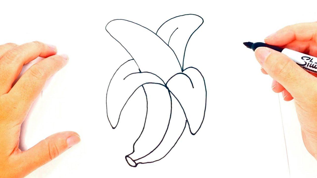 Como Dibujar Un Platano Paso A Paso Dibujo Facil De Platano Dibujo Paso A Paso Como Dibujar Dibujo Facil