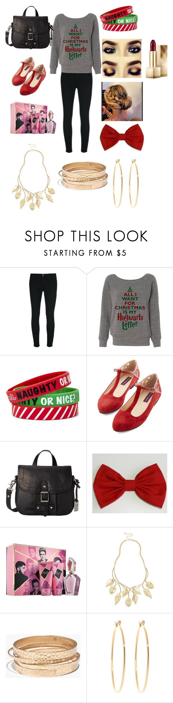 """""""Christmas"""" by taylormcadams17 ❤ liked on Polyvore featuring J Brand, Frye, River Island, Madewell, Brooks Brothers and Burberry"""