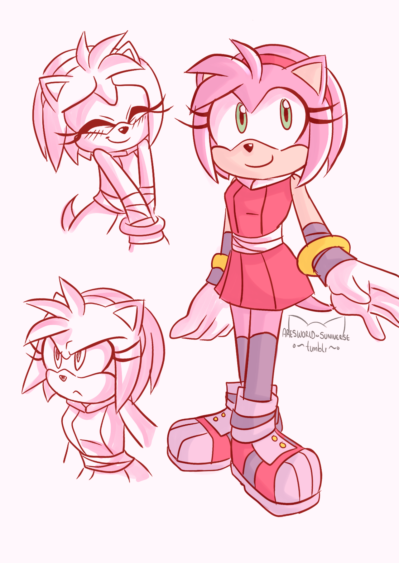 Old Drawing Of Amy Rose In Sonic Boom Amy Rose Amy The Hedgehog Hedgehog Art
