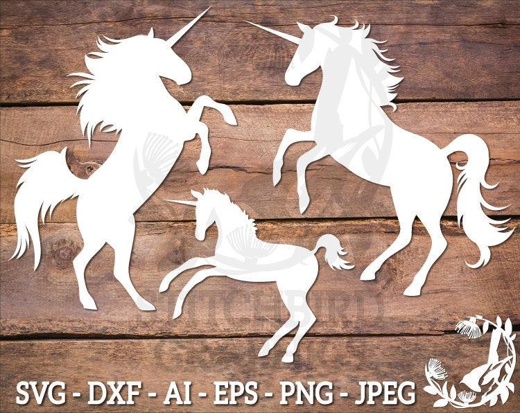 Unicorn Family SVG Bundle, Instant Download, Vector