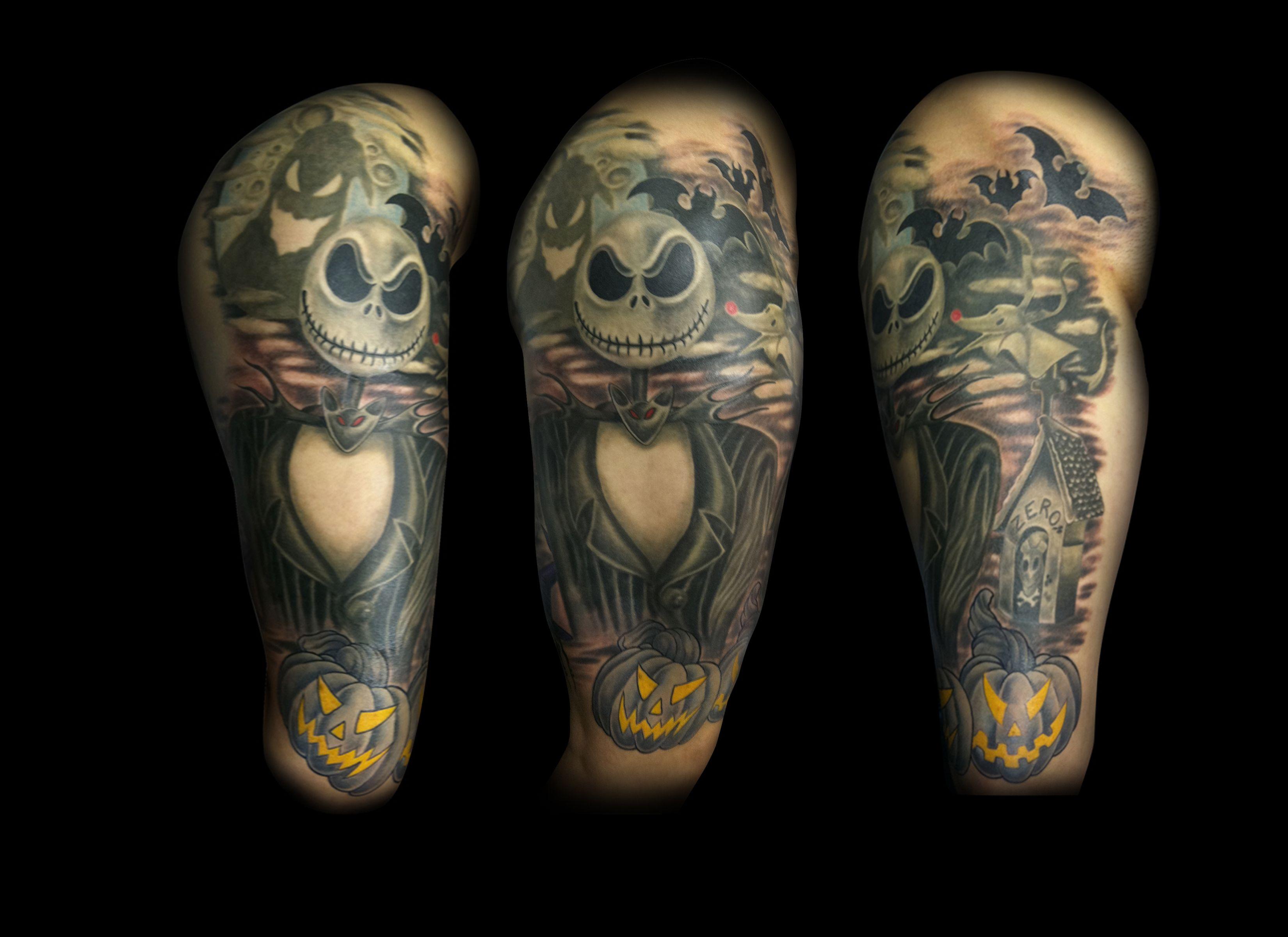 Nightmare Before Christmas tattoo by Matt Skin | Tattoos by Matt ...