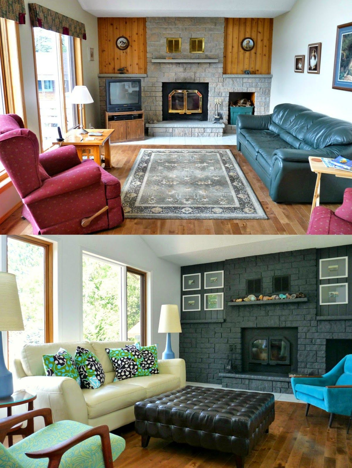 Dans le lakehouse go bold on your fireplace diy your home