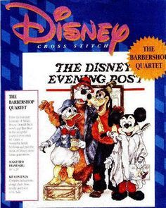 Disney Norman Rockwell Cross Stitch Barbershop Quartet