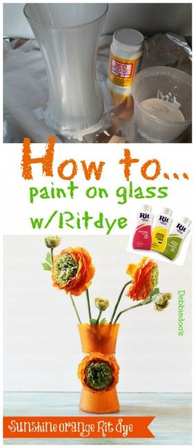 Painting A Vase With Sunshine Orange Rit Dye Craft Ideas