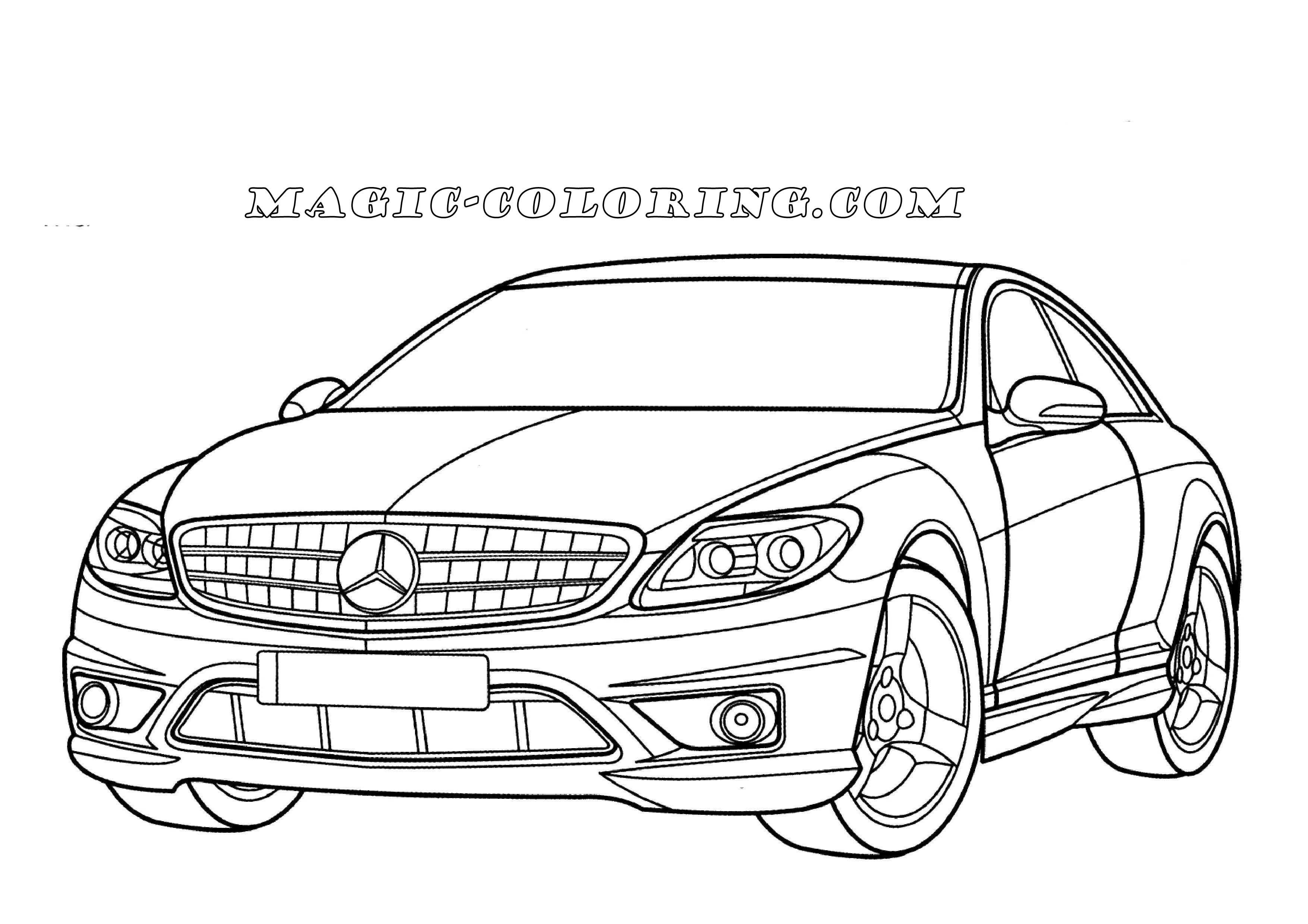 Mercedes Benz Cl Class Coloring Page Araba Cizim Oyun