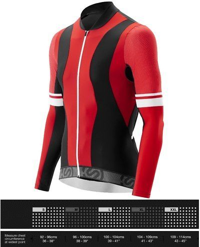 Jerseys 56183  Skins Cycle Men S Tremola Jersey Long-Sleeve Red Black White  Small 5ffafc8f9