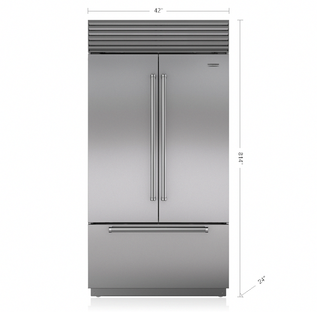 Sub Zero 42 Classic French Door Refrigerator Freezer Bi 42ufd S Kitchendoors In 2020 French Door Refrigerator Double Door Refrigerator Size Sub Zero Appliances