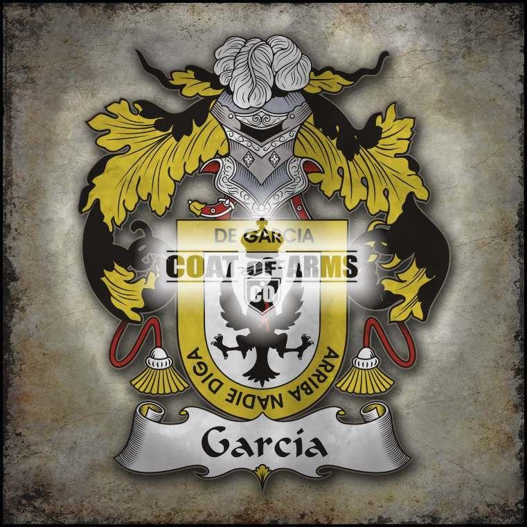 García I Family Crest Spanish Coat of Arms Coat of