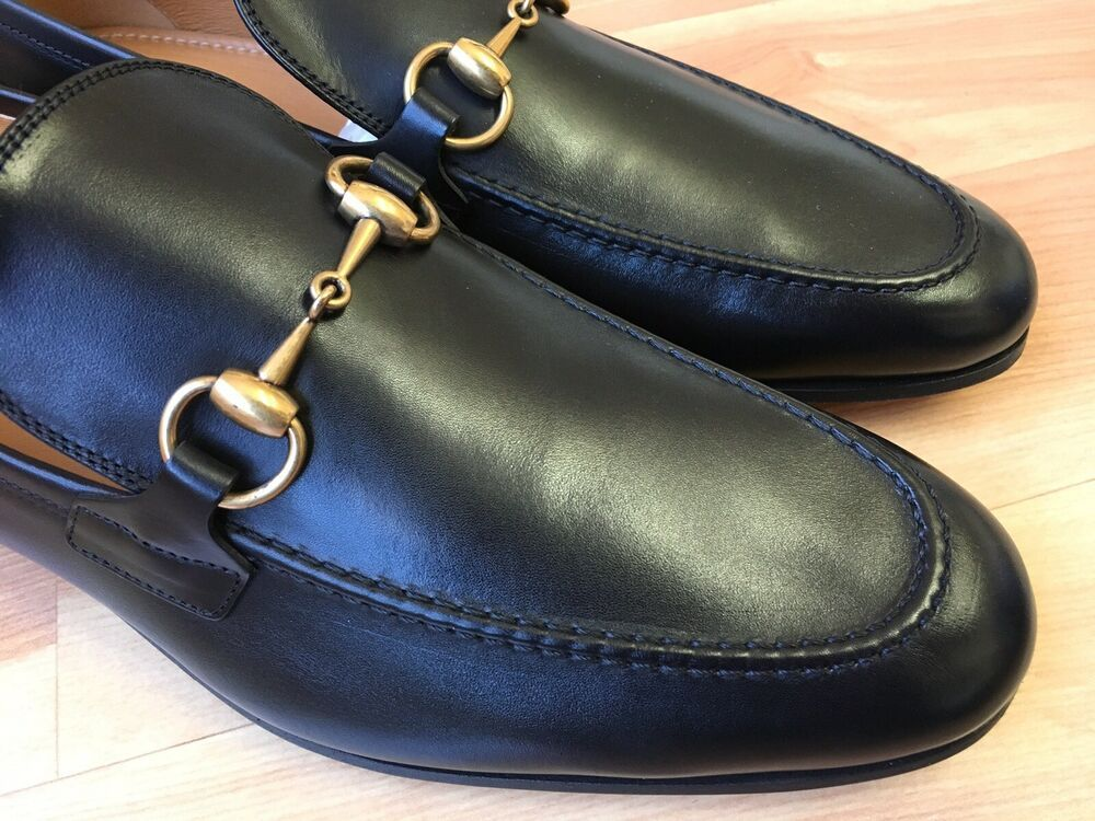 bb137d4022f eBay  Sponsored GUCCI  Jordaan  Horsebit Loafer Men s Black 406636 Sz 7.5  UK (8.5 US)