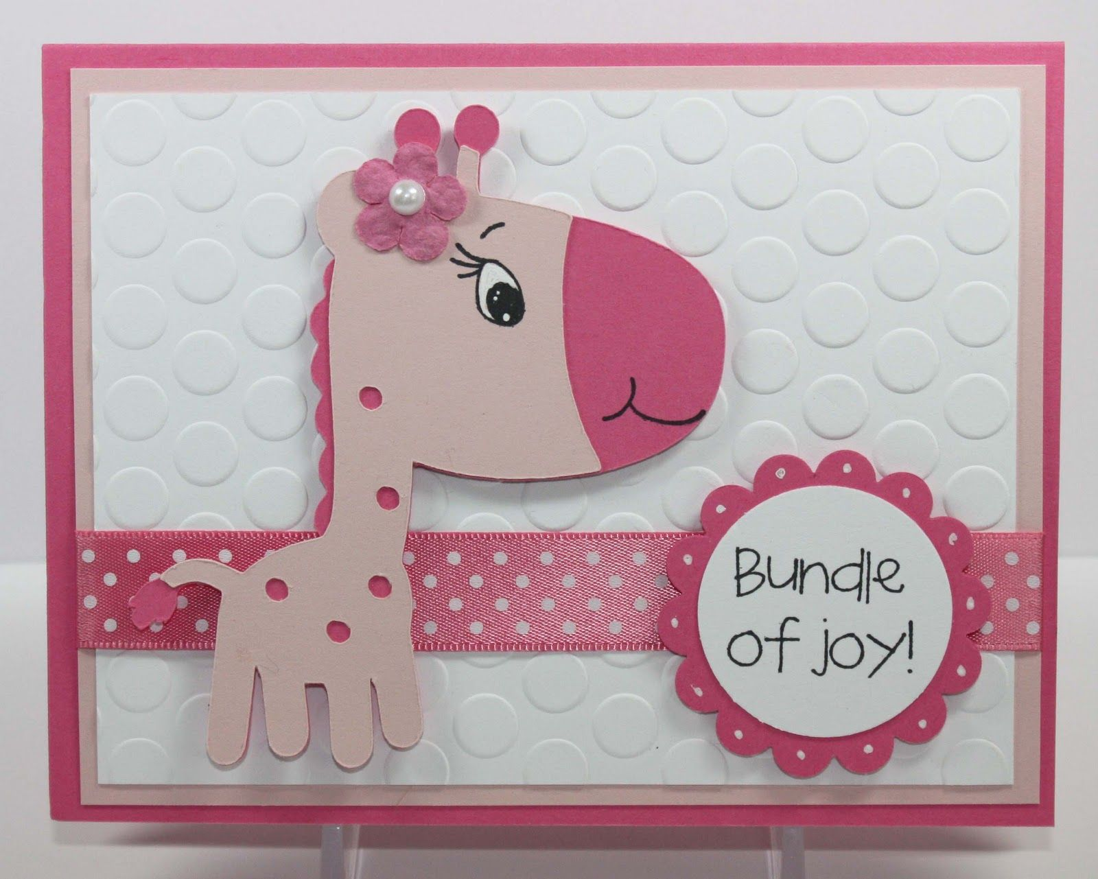Cricut Card Making Ideas Part - 21: Cricut Baby Cards | Simply Pam: Episode 39: Baby Giraffe Card