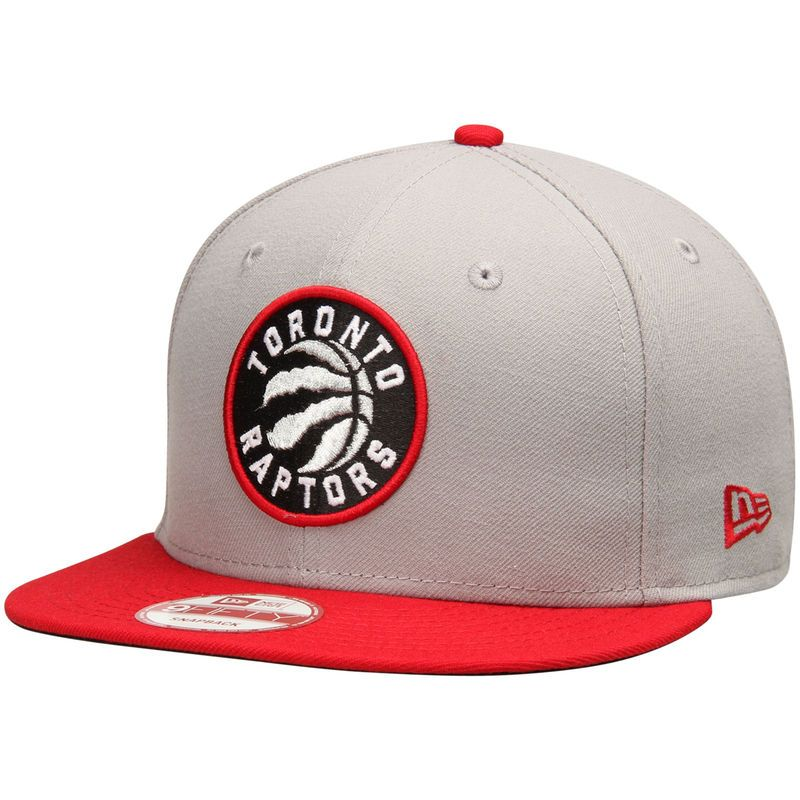Toronto Raptors New Era Team 9FIFTY Snapback Adjustable Hat - Gray/Red