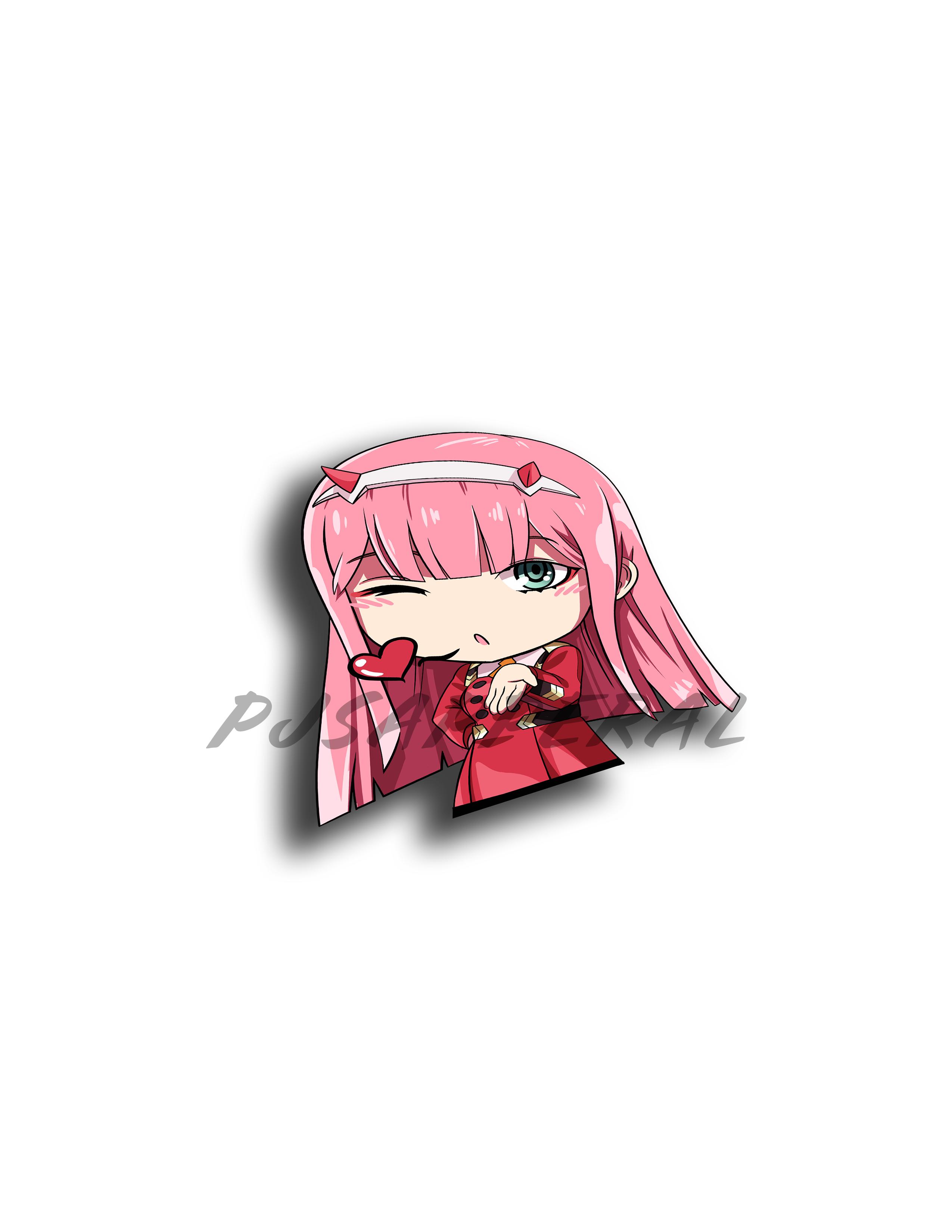 02 Chibi Sticker Decal Anime Decals Chibi Anime