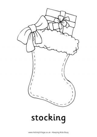 Christmas Stocking Colouring Pages Christmas Coloring Pages