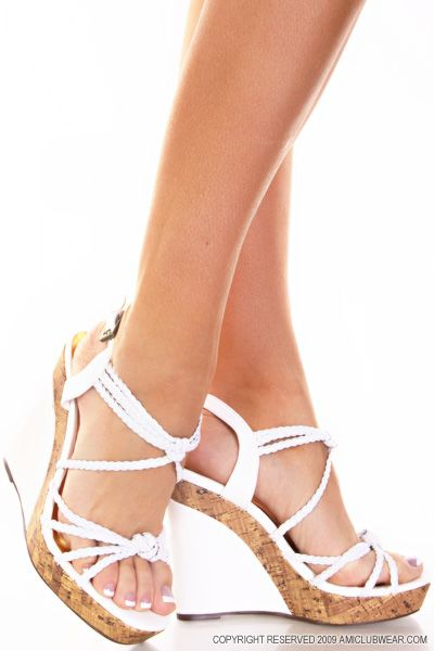 White Wedge Sandals for more Beautiful wedges shoes click here