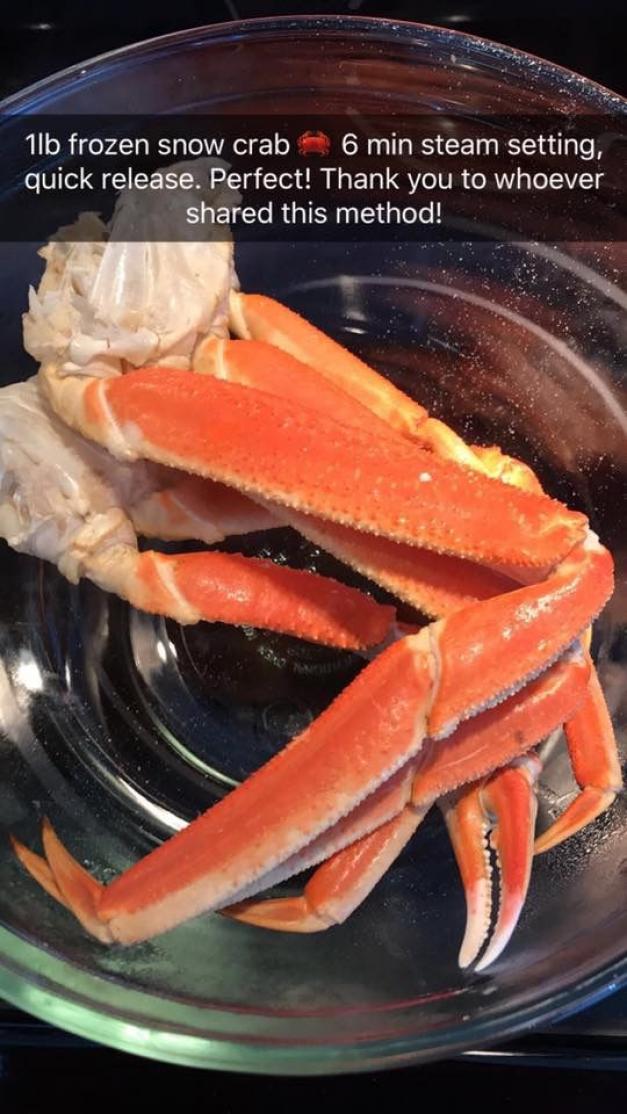Frozen Snow Crabs - InstaPot #paleodinner in 2020 ...