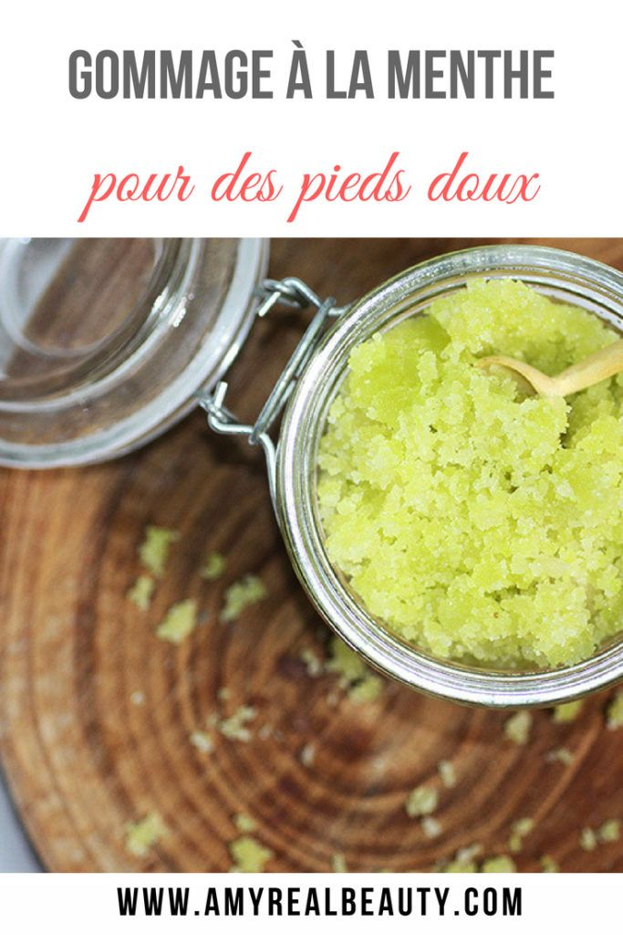 recette gommage pieds
