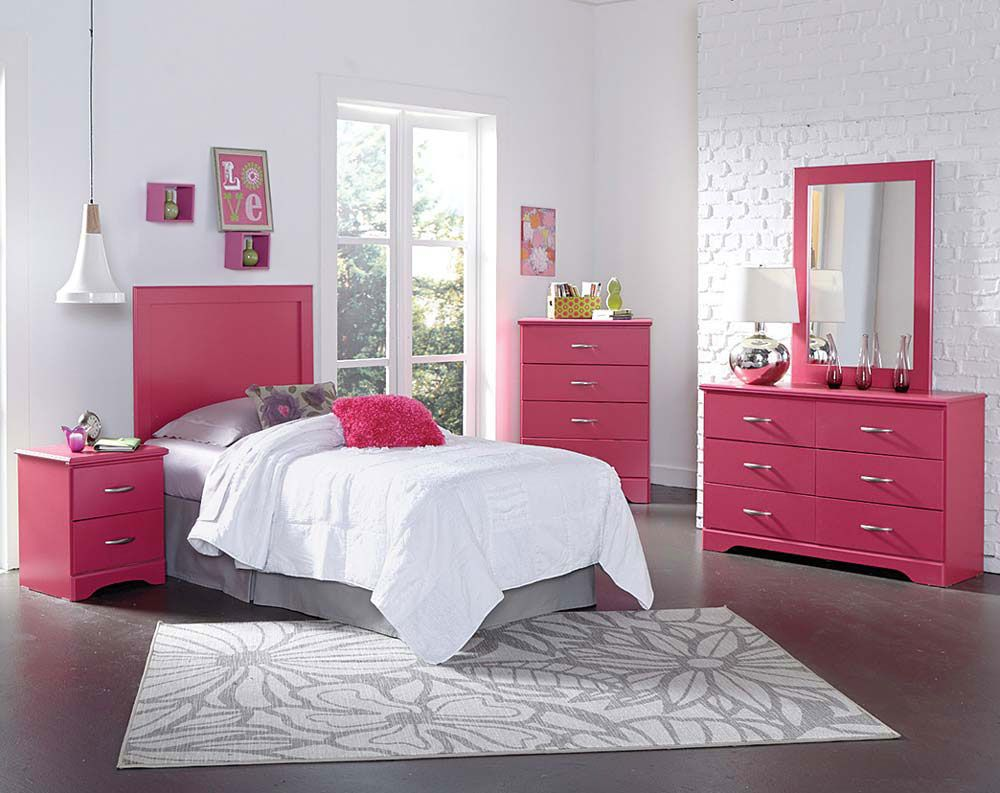 True Love Pink Bedroom Set | Cheap bedroom furniture ...