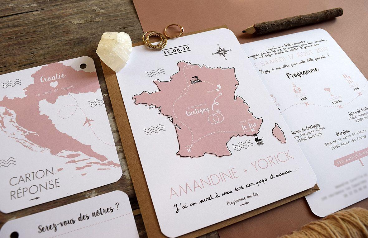 Faire Part De Mariage Carte De France Par Faire Part Mariage