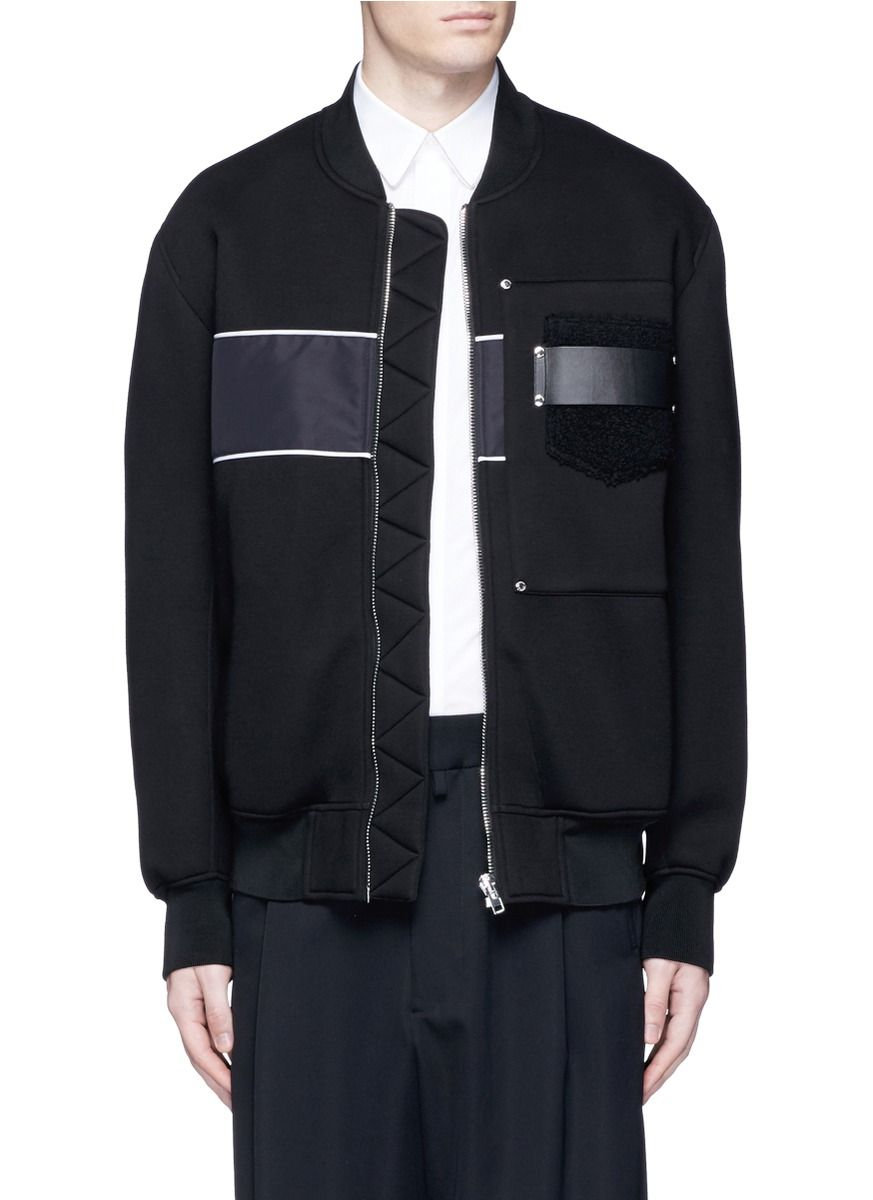 1f295adf GIVENCHY Mixed Media Bomber Jacket. #givenchy #cloth #jacket ...