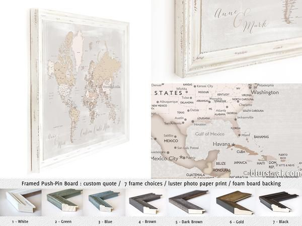 Holiday deal 20 off all personalized framed push pin maps gumiabroncs Gallery