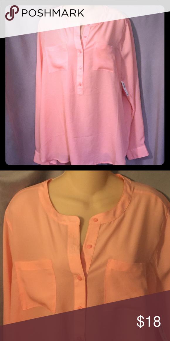6b99fdab Coral blouse. Coral BlouseOld NavyNavy TopsButton UpBlousesCoral ...