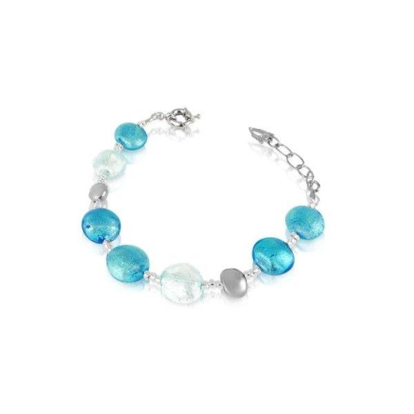 Antica Murrina Bracelets Frida - Murano Glass Bead Bracelet (36 PAB) ❤ liked on Polyvore featuring jewelry, bracelets, blue, beading jewelry, beaded bangles, antica murrina, murano glass bead jewelry and murano glass jewelry