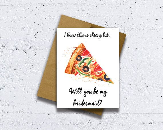This bridesmaid card is a great way to ask Will you be my bridesmaid ...