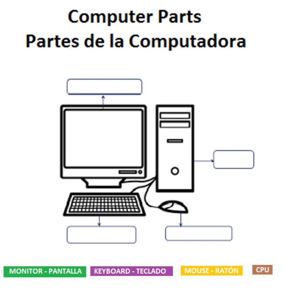 Computer Parts Partes De La Computadora Computadora Para Ninos Clases De Computacion Partes De La Misa