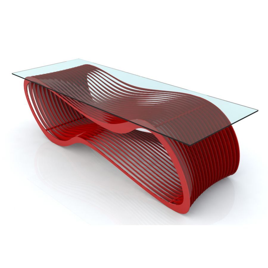 Awesome Red Ultra Modern Coffee Table