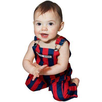1ed22d5fd Infant Game Bib Overalls - Navy Blue Red